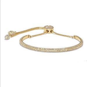 Vince camuto gold tone pave slider bracelet